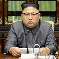 トランプ米大統領の国連演説に対する声明を読み上げる金委員長=22日、ソウル(朝鮮中央通信=聯合ニュース)