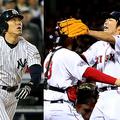 ヤンキースで活躍した松井秀喜(左)とレッドソックスで活躍した上原浩治【写真:Getty Images】
