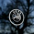 欧州サッカー連盟(UEFA)のロゴ(2020年2月28日撮影、資料写真)。(c)Fabrice COFFRINI / AFP