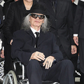 希林さんの葬儀に出席した内田裕也さん