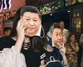 香港で「覆面禁止法」に抗議 習近平国家主席の仮面でハロウィーン