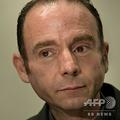 米首都ワシントンのホテルで会見に臨む、世界で初めてHIV感染からの治癒が確認されたティモシー・レイ・ブラウンさん(2012年7月24日撮影)。(c)BRENDAN SMIALOWSKI / AFP