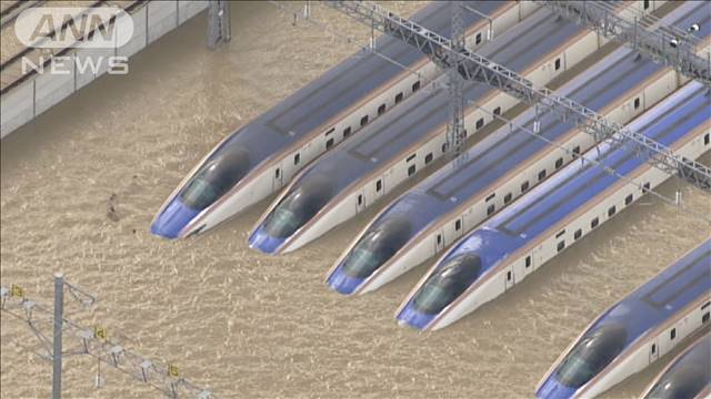 [画像] 台風19号 浸水新幹線をすべて廃棄で被害額は150億
