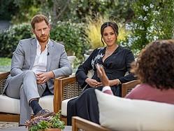 英ヘンリー王子(36)の妻メーガン妃(39)は3月7日放送のインタビューで長男アーチーちゃん(1)を妊娠中に王室内で肌の色を懸念する声があり、王子の称号が与えられなかったと明らかにした。写真はインタビューの様子。提供写真  - (2021年 ロイター/Joe Pugliese)
