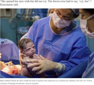 """[画像] 【海外発!Breaking News】誕生したばかりの""""強面すぎる""""赤ちゃんにSNS沸く(ブラジル)<動画あり>"""