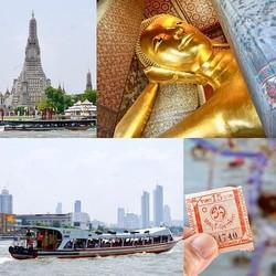 バンコクの日常に触れるプチクルーズ。交通の要・チャオプラヤ川から訪れる【黄金の涅槃仏】