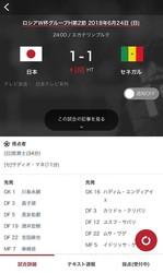 勝てば決勝T進出が大きく近づくセネガル戦…日本代表の採点受付中