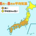 西・東日本を中心に平年より暑い夏 晴れる日も多くなる見込み