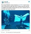 最長で7分14秒もの間、息を止めていられるというケイト・ウィンスレット - 画像は『アバター』海外公式Twitterのスクリーンショット