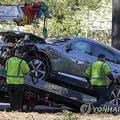ウッズ氏が運転していた事故車=(AP=聯合ニュース)