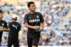 昨季途中に磐田に加入。ボランチだけでなくCBでも計算できるユーティリティプレーヤーで、貴重な戦力となるはずだ。写真:金子拓弥(サッカーダイジェスト写真部)