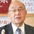 対策本部会議で説明する荒井正吾知事=2021年4月8日、奈良県庁、平田瑛美撮影