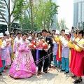 北朝鮮の結婚式(朝鮮中央通信)