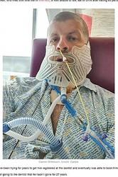 エナメル上皮腫で7回も手術するはめになった男性(画像は『LADbible 2020年7月13日付「Man Who Hadn't Been To Dentist For 27 Years Had To Have Jaw Removed After Tumour Discovery」(Credit: Caters)』のスクリーンショット)