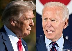 米国のドナルド・トランプ大統領(左)とジョー・バイデン前副大統領(右、2020年10月15日作成)。(c)SAUL LOEB and JIM WATSON / AFP