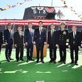 中央は岸信夫防衛大臣。左から2番目が北川パパである(海上自衛隊HPより)