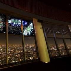映画『打ち上げ花火、下から見るか?横から見るか?』特別花火映像、東京スカイツリー天望デッキ窓に上映