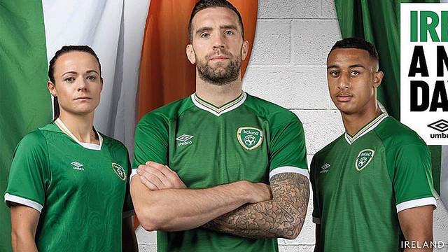 [画像] アイルランド代表、2021新ユニフォームを発表!「UMBROがサプライヤーに復活」