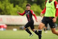 チーム練習を再開させた名古屋。久々の本格的なトレーニングを相馬は喜んだ。(C)N.G.E.