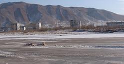 中朝国境を流れる豆満江(資料写真)