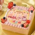 シルバニアファミリーの一番人気「ショコラウサギファミリー」がケーキに!/(C)EPOCH