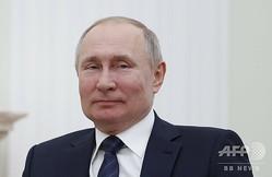 ロシアのウラジーミル・プーチン大統領。首都モスクワのクレムリン(大統領府)で(2020年2月27日撮影)。(c)EVGENIA NOVOZHENINA / POOL / AFP