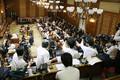 2018年3月27日、佐川宣寿前国税庁長官の証人喚問が行われた参院予算委員会に集まった多くの報道陣。(写真=時事通信フォト)