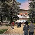スタジオツアー東京入り口前の公共庭園(提供画像)
