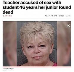 17歳男子生徒と男女の関係があった63歳教師(画像は『New York Post 2019年11月6日付「Teacher accused of sex with student 46 years her junior found dead」(MCSO)』のスクリーンショット)