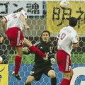 惜敗となった日韓W杯、トルコ戦の失点シーン【写真:Getty Images】