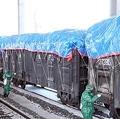 朝鮮中央テレビは23日、肺炎を引き起こす新型コロナウイルスの流入を防ぐために輸入物資に対する検査、消毒を強化していると伝えた=(聯合ニュース)≪転載・転用禁止≫