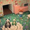 「のばなのじゅうたん」が敷かれたモチパンさんの部屋(提供:モチパンさん)