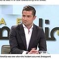 浮気が公になってしまったニュースキャスター(画像は『9Honey - Nine 2020年4月29日付「Spanish news anchor caught cheating during live video call」(Instagram)』のスクリーンショット)