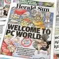 ヘラルド・サン紙には抗議が殺到した(写真:AFP/AFLO)