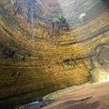 イエメン東部アルマハラ県にある巨大な穴「バラフートの井戸」。オマーン洞窟探検隊撮影・提供(2021年9月15日撮影)。(c)AFP PHOTO / HO / OMAN CAVE EXPLORATION TEAM (OCET)