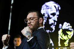 総合格闘技大会「UFC」の元2階級覇者コナー・マクレガー(2019年10月24日撮影)。(c)Kirill KUDRYAVTSEV / AFP