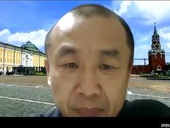 解釈変更を導いたJリーグの木村正明専務理事(オンライン会議アプリ『Zoom』のスクリーンショット)