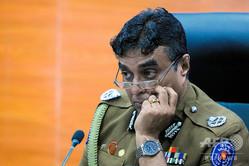 スリランカのプジット・ジャヤスンダラ警察長官(2017年3月7日撮影)。(c)Ishara S. KODIKARA / AFP