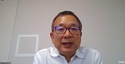 村井満チェアマン(オンライン会議アプリ『Zoom』のスクリーンショット)
