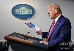 米ホワイトハウスで記者会見を行うドナルド・トランプ大統領(2020年9月16日撮影)。(c)MANDEL NGAN / AFP