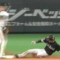 今季41個目の盗塁を記録したソフトバンク・周東佑京【画像:パーソル パリーグTV】