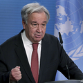 国連のアントニオ・グテレス事務総長(2020年12月17日撮影)。(c)Michael Sohn / POOL / AFP