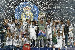 創設クラブに加わった、最多13回の欧州制覇を誇るレアル・マドリード(2018年5月26日撮影、資料写真)。(c)LLUIS GENE / AFP