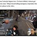 ユーチューバーが駆けつけても、執拗に自転車を盗もうとした男(画像は『Coconuts Singapore 2021年4月20日付「Singaporean student mugged in London streamed live on YouTube (Video)」(Photo: Sherwin/YouTube)』のスクリーンショット)