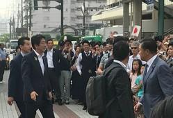 7月5日、塚田一郎候補への応援演説のため新潟入りした安倍首相