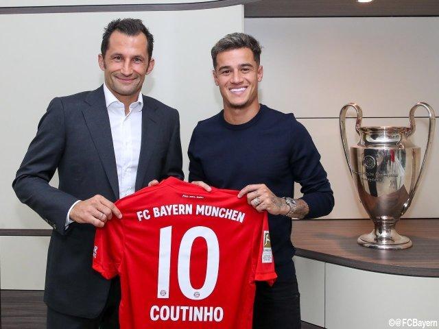 [画像] 背番号10はロッベンからコウチーニョへ…バイエルンが期限付き移籍加入を正式発表