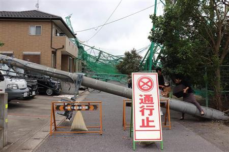 [画像] 【台風15号1カ月】千葉・市原ゴルフ練習場の鉄柱倒壊 いまだに手つかず