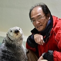 飼育員・石原良浩さんとラッコのメイちゃん(写真提供:鳥羽水族館)