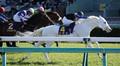 <桜花賞>首差でサトノレイナスに勝利し、白毛馬初のクラシックを制したソダシ (撮影・奥 調)
