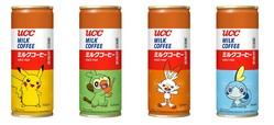 「UCC ミルクコーヒー」にポケモン缶が登場! 定番のデザインにピカチュウや新キャラたちが描かれていて可愛い!!